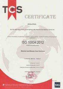 دریافت ISO10004 در سال 91