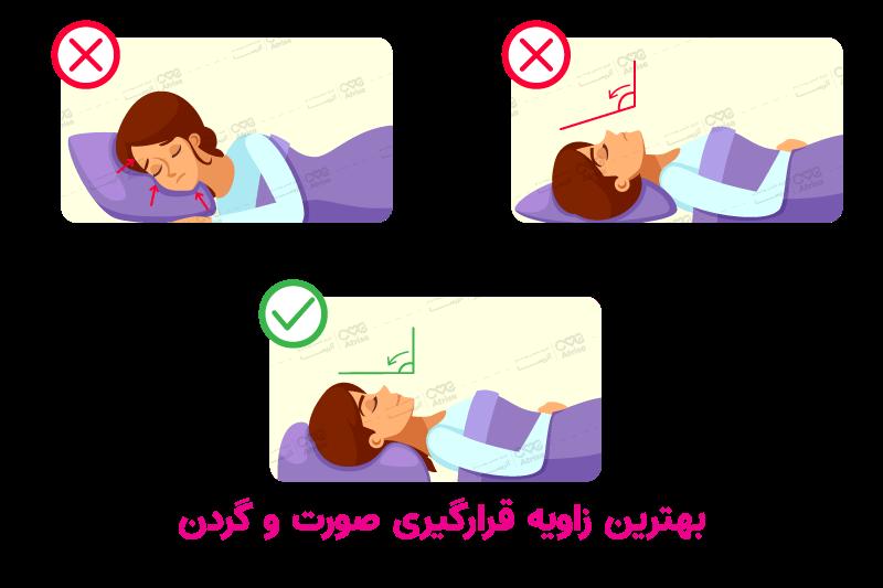 خوابیدن بعد از تزریق بوتاکس